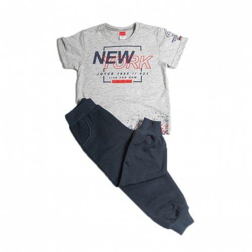 Joyce γκρι σετ μπλούζα παντελόνι για αγόρι 211357W
