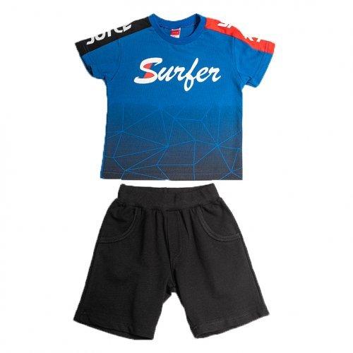 Joyce μαύρο σετ μπλουζάκι βερμούδα για αγόρι 211360W