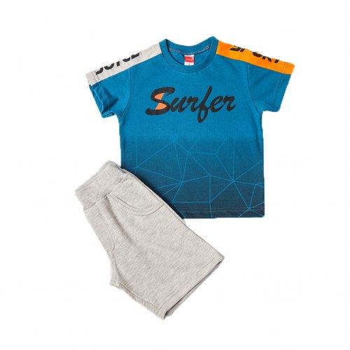 Joyce μπλε σετ μπλουζάκι βερμούδα για αγόρι 211360T
