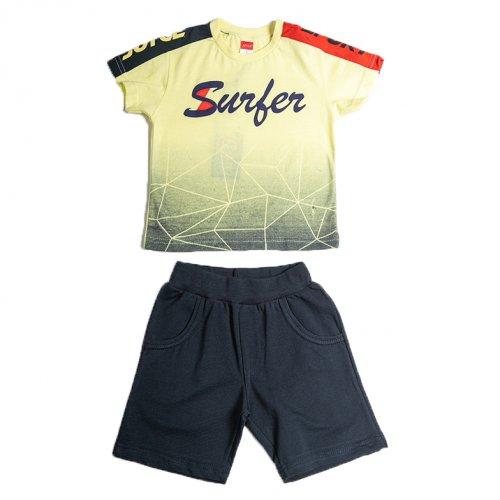 Joyce κίτρινο σετ μπλουζάκι βερμούδα για αγόρι 211360R