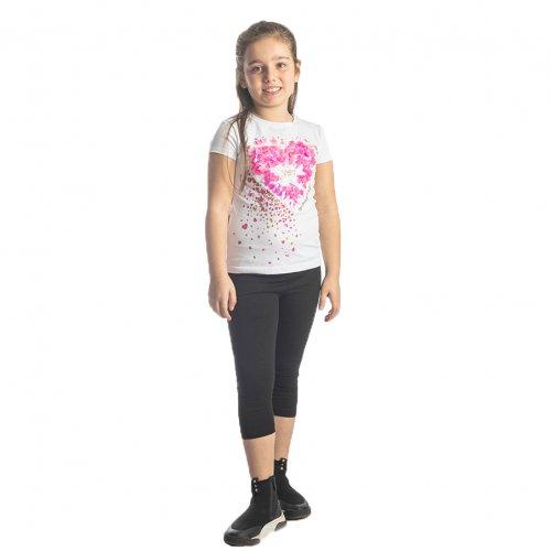 Joyce λευκό σετ μπλουζάκι κολάν για κορίτσι 211522