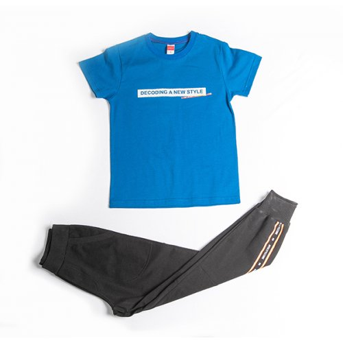 Joyce ρουά σετ μπλουζάκι παντελόνι για αγόρι 211709C