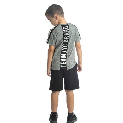 Joyce γκρι σετ μπλουζάκι βερμούδα για αγόρι 211722