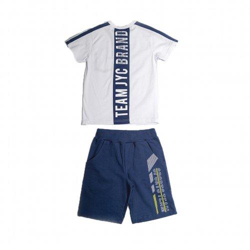 Joyce λευκό σετ μπλουζάκι βερμούδα για αγόρι 211722T
