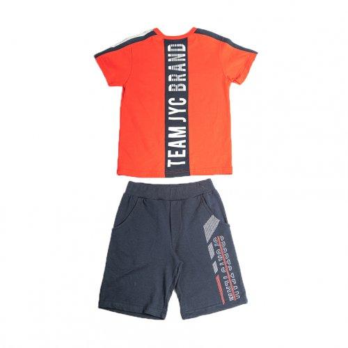 Joyce κόκκινο σετ μπλουζάκι βερμούδα για αγόρι 211722Υ