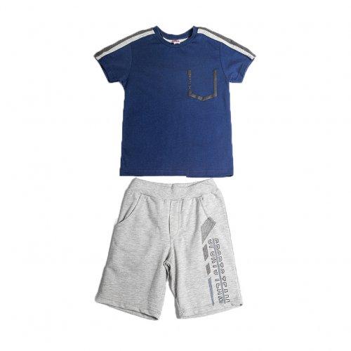 Joyce μπλε σετ μπλουζάκι βερμούδα για αγόρι 211722G