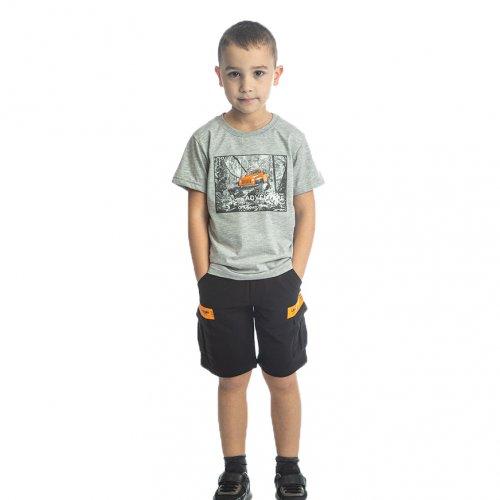 Joyce γκρι σετ μπλουζάκι βερμούδα για αγόρι 211729U