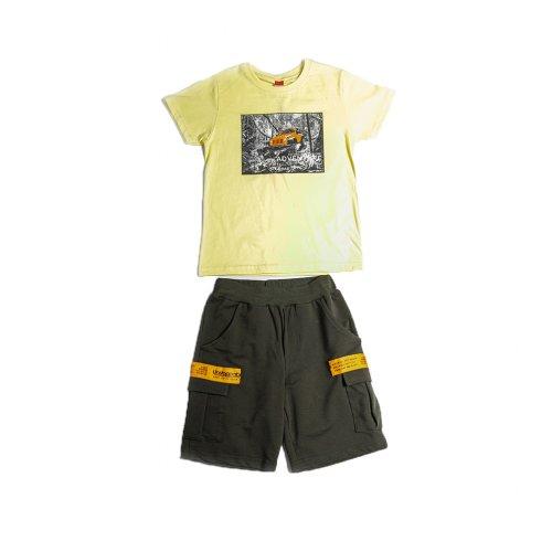 Joyce κίτρινο σετ μπλουζάκι βερμούδα για αγόρι 211729N