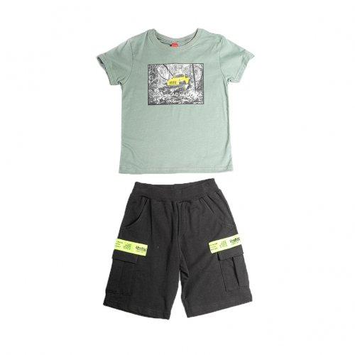 Joyce βεραμάν σετ μπλουζάκι βερμούδα για αγόρι 211729