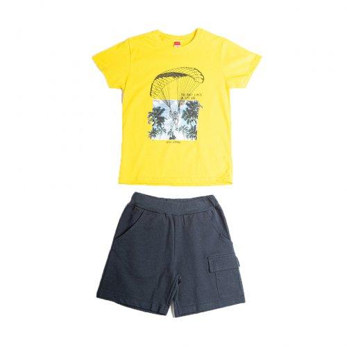 Joyce κίτρινο σετ μπλουζάκι βερμούδα για αγόρι 211754