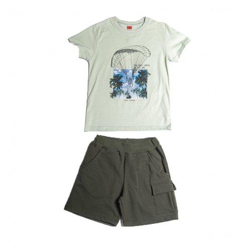 Joyce χακί σετ μπλουζάκι βερμούδα για αγόρι 211754X