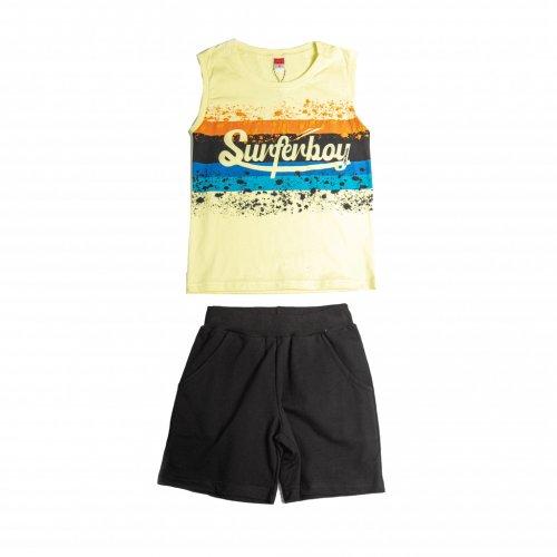 Joyce κίτρινο σετ μπλουζάκι βερμούδα για αγόρι 211758F