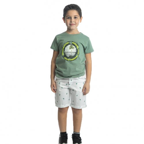 Joyce βεραμάν σετ μπλουζάκι παντελόνι για αγόρι 211772D