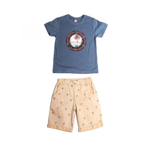 Joyce ταμπά σετ μπλουζάκι παντελόνι για αγόρι 211772F