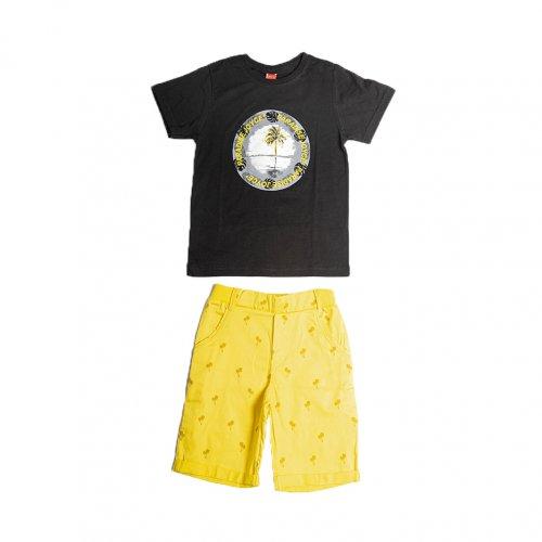 Joyce κίτρινο σετ μπλουζάκι παντελόνι για αγόρι 211772