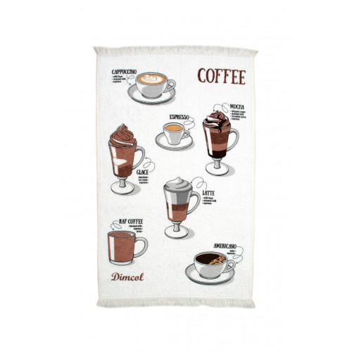 DIMcol ΠΕΤΣΕΤΑ ΚΟΥΖΙΝΑΣ  Cot. 40Χ60 Coffee 03 White 1231112705600376