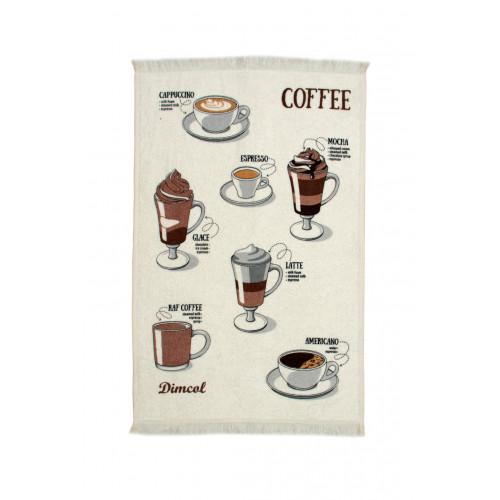 DIMcol ΠΕΤΣΕΤΑ ΚΟΥΖΙΝΑΣ  Cot. 40Χ60 Coffee 04 Ecru 1231112705600478