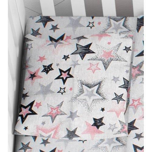 DIMcol ΜΑΞΙΛΑΡΟΘΗΚΗ ΕΜΠΡΙΜΕ ΒΡΕΦ Cotton 100% 35Χ45 Star 122 Grey-Pink 1915817707312289