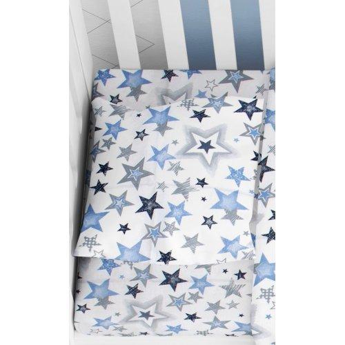DIMcol ΜΑΞΙΛΑΡΟΘΗΚΗ ΕΜΠΡΙΜΕ ΒΡΕΦ Cotton 100% 35Χ45 Star 123 Blue-Grey 1915817707312354