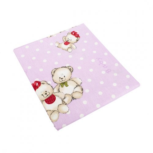 DIMcol ΠΑΠΛΩΜΑ ΕΜΠΡΙΜΕ ΒΡΕΦ Cotton 100% 120Χ160 Two Lovely Bears 65 Lila 1915917606906574