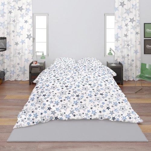 DIMcol ΠΑΠΛΩΜΑΤΟΘΗΚΗ ΕΜΠΡΙΜΕ ΠΑΙΔ Cotton 100% 160Χ240 Star 123 Blue-Grey 1925715207312354