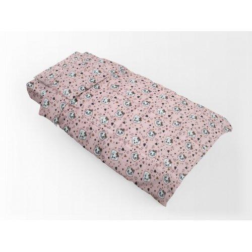DIMcol ΠΑΠΛΩΜΑΤΟΘΗΚΗ ΕΜΠΡΙΜΕ ΠΑΙΔ Flannel Cotton 100% 160Χ240 Puppy-Kitten 18 Pink 1925755209601879