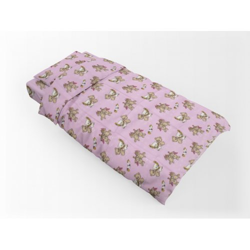 DIMcol ΠΑΠΛΩΜΑΤΟΘΗΚΗ ΕΜΠΡΙΜΕ ΠΑΙΔ Flannel Cotton 100% 160Χ240 Little Brothers 148 Pink 1925755216514879