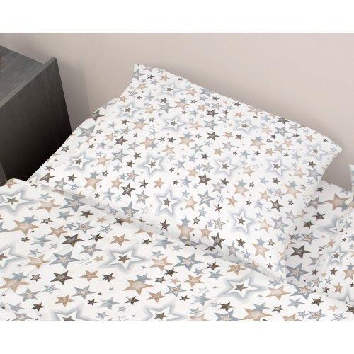 DIMcol ΜΑΞΙΛΑΡΟΘΗΚΗ ΕΜΠΡΙΜΕ ΠΑΙΔ Cotton 100% 50Χ70 Star 119 Grey-Beige 1925813107311912