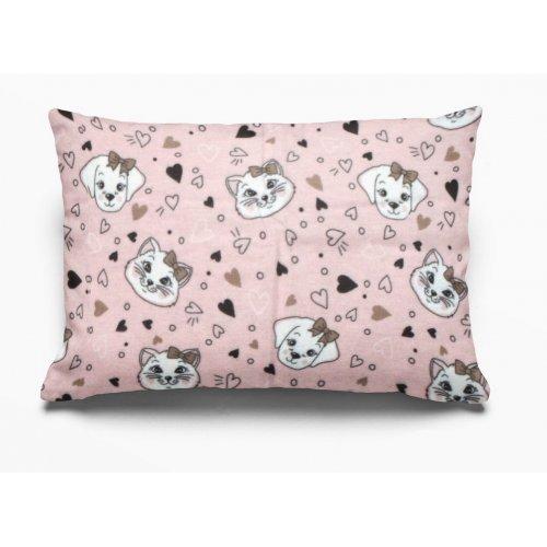 DIMcol ΜΑΞΙΛΑΡΟΘΗΚΗ ΕΜΠΡΙΜΕ ΠΑΙΔ Flannel Cotton 100% 50Χ70 Puppy-Kitten 18 Pink 1925853109601879