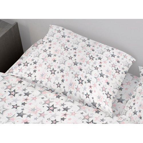 DIMcol ΜΑΞΙΛΑΡΟΘΗΚΗ ΕΜΠΡΙΜΕ ΕΝΗΛ Cotton 100% 50Χ70 Star 122 Grey-Pink 1935813107312289