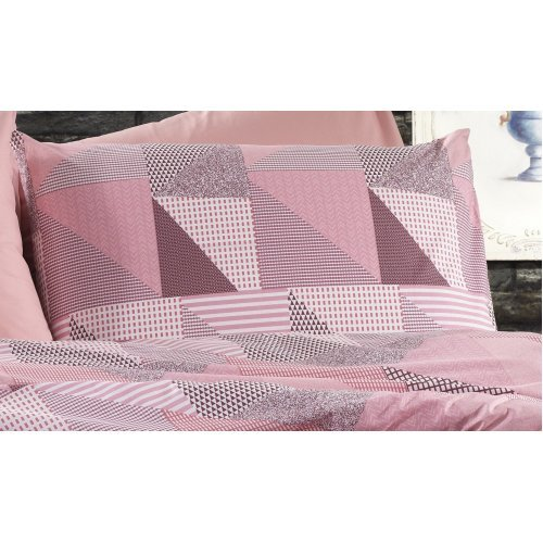 DIMcol ΜΑΞΙΛΑΡΟΘΗΚΗ ΕΜΠΡΙΜΕ ΕΝΗΛ Flannel Cotton 100% 50Χ70 Geometrical 331 Pink-Salmon 1935853141633168