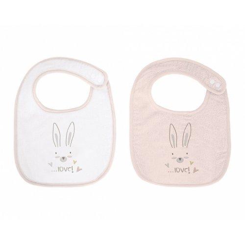 Σετ από 2 terry σαλιάρες Kikka Boo Rabbits in Love 31104010040