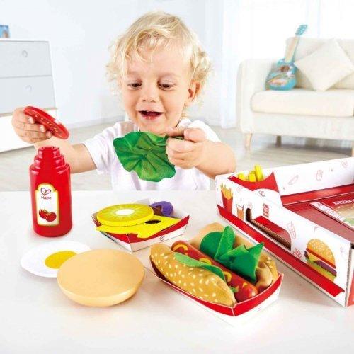 HAPE PLAYFULLY DELICIOUS ΞΥΛΙΝΟ ΣΕΤ FAST FOOD E3160