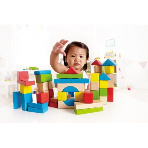 Hape Maple Blocks - Κύβοι Πολλαπλών Σχημάτων & Χρωμάτων Με Τσάντα Αποθήκευσης - 50Τεμ. E0409AG53