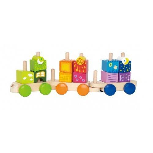 Hape Fantasia Blocks Train -Τρενάκι Ατελέιωτης Φαντασίας Με Μοναδικά Σχήματα Που Μετατρέπονται Από Αυτοκίνητα Σε Τρένα - 17Τεμ. E0417A