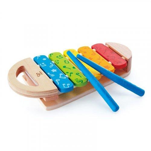 Hape Early Melodies New Rainbow Xylophone - Πολύχρωμο Ξυλόφωνο - 3Τεμ. E0606