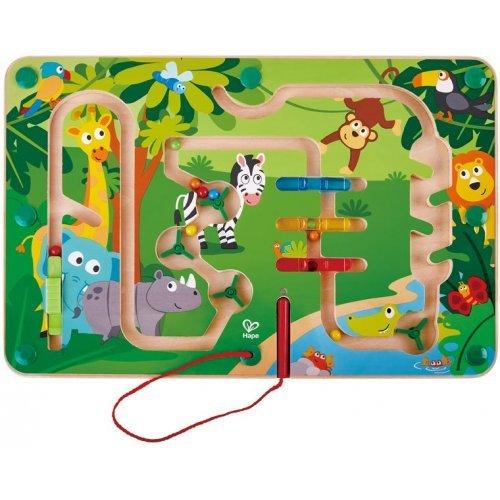 Hape Jungle Maze - Πίνακας Της Ζούγκλας Με Μαγνητικό Ραβδάκι 1 - Τεμ E1714