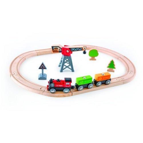 Hape Railway Cargo Delivery Loop - Σιδηρόδρομος Φορτωεκφόρτωσης Εμπορευμαύτων - 19Τεμ. E3731A