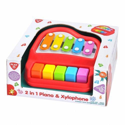 Playgo Πιάνο Και Ξυλόφωνο 2 Σε 1 Με 5+5 Πλήκτρα 13363