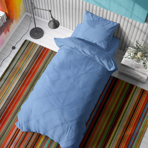 DIMcol ΠΑΠΛΩΜΑ  Cotton 100% 160Χ240 Solid 498 Sky blue 1931515206249882