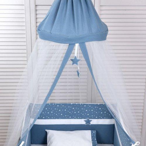ΚΟΥΝ/ΠΙΕΡΑ ΟΡΟΦΗΣ BABY OLIVER ΜΟΥΣΕΛΙΝΑ BLUE 46-6703/374