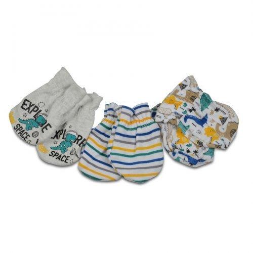 Βρεφικά γαντάκια 3 ζεύγη Cangaroo Baby mittens Kay Blue 3800146265533