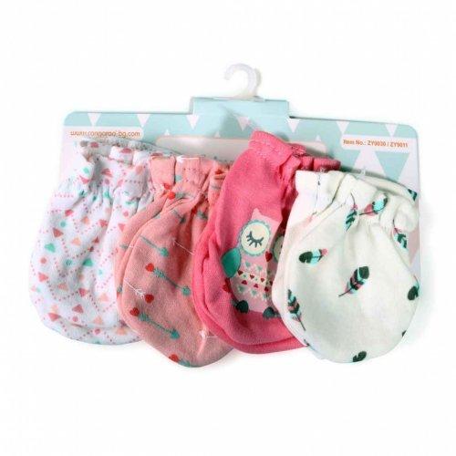 Βρεφικά γαντάκια 4 ζεύγη Cangaroo Baby mittens Tibby Pink 106903