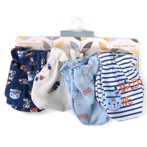Βρεφικά γαντάκια 4 ζεύγη Cangaroo Baby mittens Tibby Blue 106904