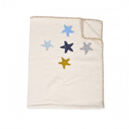 ΒΡΕΦΙΚΗ ΠΛΕΚΤΗ ΚΟΥΒΕΡΤΑ CANGAROO KNITTED BLANKET 100/90CM 5 STARS ECRU 3800146265427