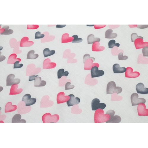 DIMcol ΣΕΝΤΟΝΑΚΙ ΛΙΚΝΟΥ ΒΡΕΦ Cotton 100% 80Χ110 Hearts 12 Grey-Pink 1914413707801289