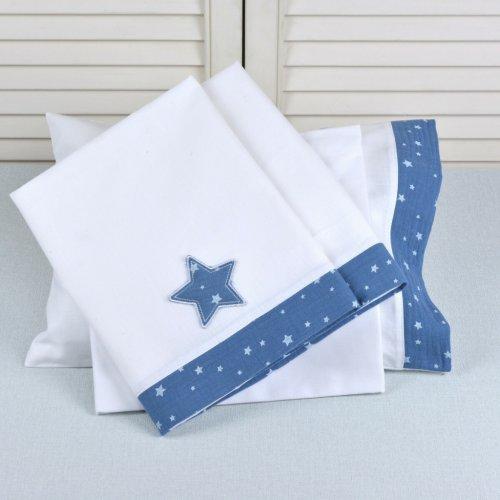 ΣΕΝΤΟΝΙΑ ΣΕΤ 3TEM BABY OLIVER 100X165CM MUSLIN BLUE 46-6706/374