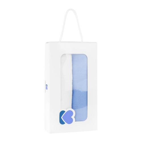 ΠΑΝΑ ΑΓΚΑΛΙΑΣ ΜΟΥΣΕΛΙΝΑ KIKKA BOO 2ΤΕΜ 105X105CM BLUE AND WHITE 41103040025