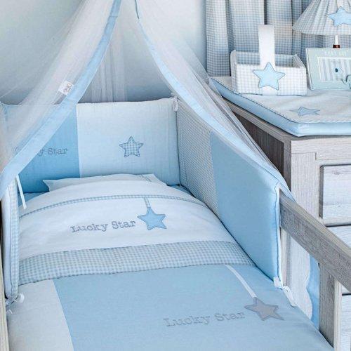 ΣΕΤ ΣΕΝΤΟΝΙΑ ΚΑΛ/ΝΑΣ 3ΤΕΜ BABY OLIVER 75X100CM LUCKY STAR BLUE 46-6704/309