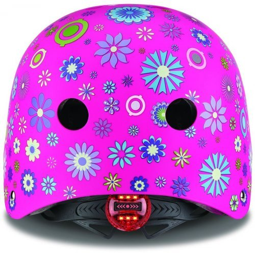 Globber Κράνος Elite Lights XS/S (48-53cm) Deep Pink Flowers 507-110